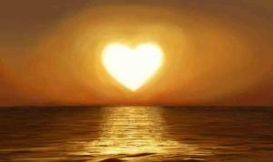 Sunset god-heart